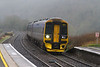 27th Jan 2018:  Dashing through Freshford is 158953 that is forming 1F20 the 13.23 from Portsmouth Harbour to Cardiff Central on a thoroughly grotty day.