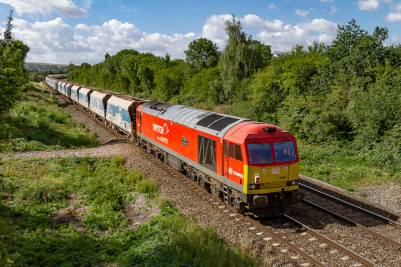 28th Jul 2018:  Bringing up the ear of 7C29 from Acton to Merehead is 60007