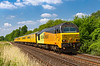 28th Jun 2018:  Heading south at Sherrington Lane in the Wylye Valley are 67027 TnT 67023 as they work 2!Q23 from Salisbury to Westbury. This is one leg of the days effort that started and ended in Reading and encpmpassd Exeter and Southampton.