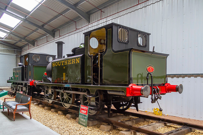 1st Jun 2018:  Painted in 1930s livery  Brighton A1X tank was built in 1878 but was sold to the Isle of Wight Central railway in 1902.  It eventually returned to the mainland in 1947 where it worked until withdrawn in 1963.