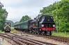 1st Jun 2018:  LMS Ivatt 2-6-2Tank 41313 was acually built by British Railways in 1952 and spent all it's working life on the southern region of BR,  Here it is pictured as it drifts down the hill from Wootton to Haven treet