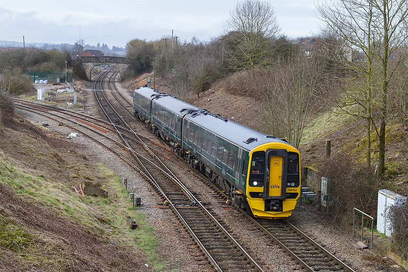 11th Mar 2018:  With evidence of serious embankment clearing being undertaken this view is being opened up again.  158952 is working 1F10 the 09.35 Frome to Cardiff Central