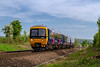 17th May 2018:  Running down the grade away from Hawkeridge Junction still in blue livery is 166211 heading to Bristol Parkway with 2D24 the 16.19 from Westbury