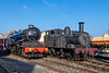 17th Nov 2018:  A some what squashed 6023 King Edward 11 in is  basking in Autumn sun shine in beautiful Ex Works condition. Along side is a vvery dirty 1466