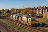 22nd Oct 2018:  Squirting as it arrives at Eastleigh is RHTT MPV DR 98927/98977.  Starting from Totton it has worked to Weymouth and will now reverse and  cover all the lines to Portsmouth and Marchwood