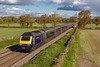 26th Oct 2018:   This standard 3/4 view of an HST sees 43137  heading west through Edington as it forms 1C84 the 13.03 Paddington to Penzance43030 is on the other end.  With the clocks changing tomorrow thaty may be my last chance to get this shot in this light at this place.  Next year is will be IETs