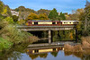 24th Oct 2018:  The day's Belmond British Pullman with 67021 on the front is pictured as it crosses the River Avon at Bradford on Avon as iy works to Bath from Victoria.  67027 is on the other end and will lead on the return working