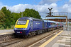 21st Sep 2018:  It is 3 1/2 hours since a train to the West of England stopped at Westbury so there were many people waiting  for the 12.00 to Paignton .  With 43158 at the front 1C77 arrives  with the 10.33 from Paddington