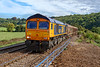 24th Sep 2018:  66774 is again tasked with hauling 6V32 from Tilbury I R E F to Trostre Works.  With Bristol Parkway closed it has been routed via the Berks & Hants line and the Avon Valley so here it is pictured as it passes through Freshford.