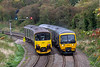 20th Sep 2018:  Two 'cast offs' from the London area pass at Bradford Junction. 150001 is working 1F14 from Porsmouth Harbour to Filtom Abbey Wood and 166218 is going to Weymouth from Filton Abbey Wood.  The signal does lean at this angle !!