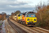 29th Dec 2019:  Colas Rail Freight 70805 is pounding up the grade thrugh Dilton Marsh with 6C97.  This LWR service is working from Truro to Eastleigh.