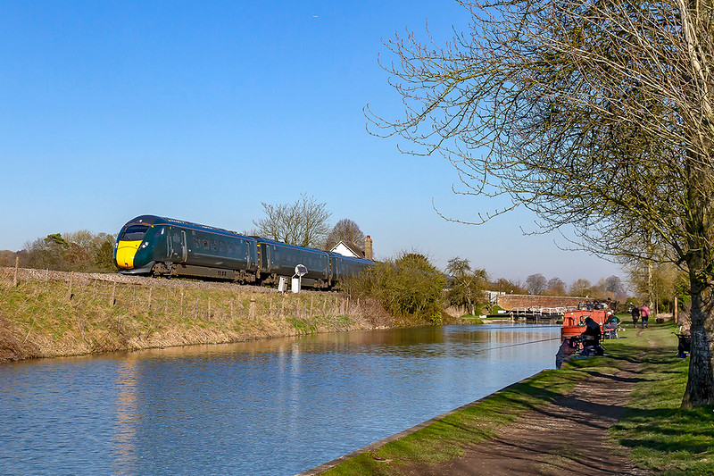 25th Feb 2019:  1C51 12.33 Paddington to Taunton with IET 800010 leading 800028  is nearing Crofton on a truly beautiful day. The white building just visible above the train used to be the dwelling of the Crofton Crossing keeper which used to have a Ground Frame and a foot bridge but is now just an unmanned gate by the white fencing.