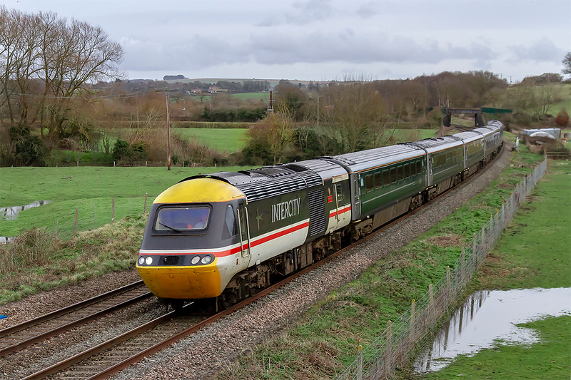 6th Feb 2019:  Even on a dull day a picture of 43185 must be worth the effort.  Here it is at Great Cheverell with 1C48 the 14.03 from Paddington to Penzance.