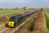 22nd Feb 2019:  1C82 is the 13.03 from Paddington to Penzance today in the hands of 43198 'Oxfordshire 2007' and 43088.  Picured here at Edington on the Berks & Hants line.