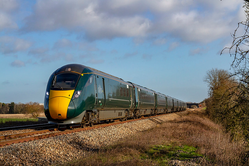 8th Jan 2019:  The modern scene sees 800308 leaving Fairwood Junction as it works 1C77 the 10.33 from Paddington to Paignton.  This service is now a regular IET working along the Berks & Hants line.