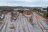 1st Jan 2019: Work is now visibly concentrating on sorting this end of Platforms 1 & 2.  From the bridge it does not look as if the other end is being extended yet.