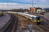 9th Jan 2019:  Passing the empty Millbrooh container Terminal are 442413 now leading 442410 as they are heading to Fratton from Bournemouth T&RSMD.