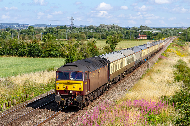 29th Jul 2019:  After the last few days hectic schedule 47802 is on the final leg taking 5Z30 from Bristol Kingsland Road to Eastleigh. The coaching stock was used on Sunday's 'Torbay Express' to Kingswear from Bristol Temple Meads