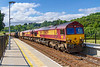 20th Jul 2019: In nice light 6O12 from Llanwern Exchange Sidings to Eastleigh Arliington Zg is captured at Freshford in the Avon Valley.  66079 & 66093 are  hauling 11 JSA steel carriers
