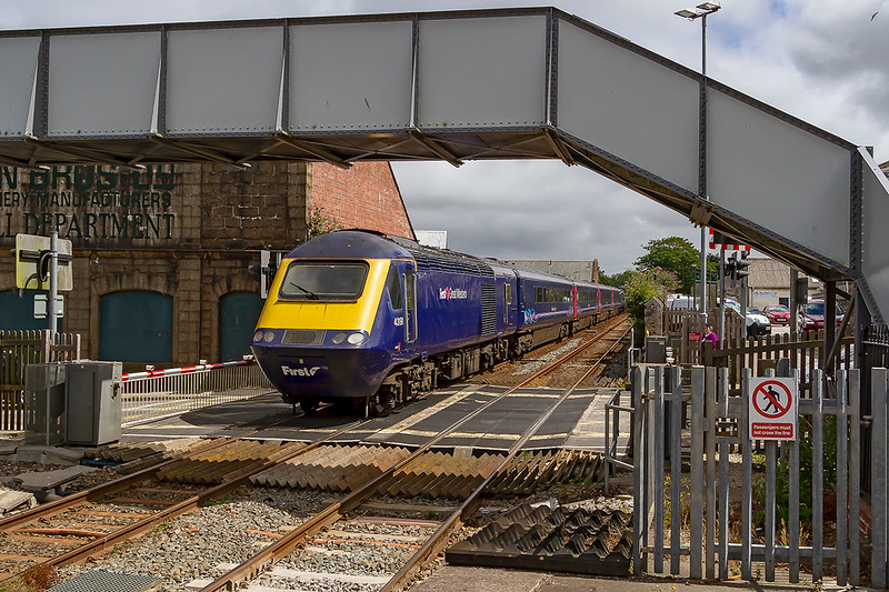 12th Jul 2019:  43191  on the rear of 1A86 the 11.41  to Newton Abbot from Penzance is captured as it leaves Camborne.  Powered by 42071 it is passing the remains of the long closed Holman Bros factory that was famous for the compressors that it made.