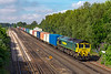 24th July 2019:  With a full load on the hook 66553 comes off the Battledown Viaduct with 4M55 going to Lawley Street from Southampton Maritime.  Many container trains seem now to be only partially loaded these days. Perhaps Brexit is havng an influence ?