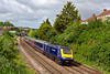3rd Jun 2019:  2U08  is the 08.41 from Weston Super Mare to Cardiff Central formed of a 'Castle Class' HST.  Today powered by 43171 & 43161 it is captured as it passes trough Parson Street.<br />  The bushes on the left are on the site of the Western end of the Malago Vale Carriage Sidings.