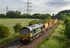26th Jun 2019:  66554 is leading on 6X04 from Fairwater Yard to Tilehurst with 66558 on the other end.  The picture is taken fron Berkley just east of Clink Road Junction.