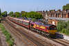 27th Jun 2019:  Approaching Eastleigh is 66147, that is still in full EWS livery, with 6M48.  These empty car carriers started fro Southampton Eastern Docks at 10.34 and are going to ther Jaguar plant at Helewood where they will be reloadad and returned to Southampton.