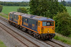 19th Jun 2019:  Class 73s are not common in the West of England so even in crap weather two Light Engines are worth a snap.  Nearing Clink Road Junction in Frome are 73107 & 73136 which are going to Bishops Lideard, from Tonbridge West Yard, where they are to be used on the West Somerset Diesel Gala at the weekend
