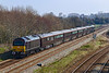 28th Mar 2019:  67006 'Royal Sovreign' is on the rear of 1Z90 that had taken the Queen to Castle Cary where in the area she had a number of appointments. 67005 is leading as it heads to Westbury Station from Fairwood Junction.