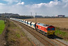 28th Mar 2019:  7B12 from Merehead to Wootton Bassett is pictured from the bridge in Pot Lane as it leaves Frome.  Providing the urge today is 59204 but the occasions when this will be are limited as DBC have lost the Mendip contract and Freightliner will be doing the job.