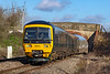 17th Mar 2019:  Now almost the norm on local services through the West Wilts are is the rostering of Turbo units.  166218 is forming 2O71 the 08.27 Bristol Temple Meads to Weymouth is running through Heywood near Westbury.