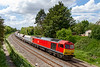 20th May 2019:  It is a welcome change to see a Class 60 again and in full sun.  60001, was originally named 'Steadfast'  and will be 30 years old in July.  Today it is heading 7B12 from Merehead to Wootton Bassett through Ladydown in Trowbridge