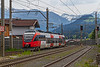 24th May 2019:  610 0104-4 is arriving at Kirchberg in Tyrol as it works the 0854 from Saalfelden to Worgl.  Shame about the crap weather though.