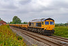 11th May 2019:  Up to 1954 I would have had to stand on the Down Platform at Edington & Bratton station to take tis view.  Working a Colas turn 6C24 from Westbury to Abbotswood Junction is GBRf 66716.