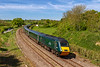 13th May 2019:  The reason for comming to Crofton was to picture HSTs during their last week of GWR main line 8 car opperation.  Here 43198  'Oxfordshire 2007' is the last power car to enter service.  Here it is leading on 1A79 twhich lft Penzance at 06.47 and is running about 11 minutes late.