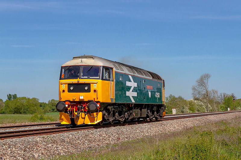 14th May 2019:  47583 'Galoway Princess' is on it's way to Saltash from Bristol  Barton Hill W.R.D. as it performs a Route Learning excersise.  Pictured as it works away from Fairwood Junction