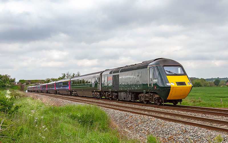 18th May 2019:  The final GWR HST service via the Berks & Hants line is 1A78 the 06.50 from Penzance to Paddington.  Powered by 43093 and 43188, pictured here at Fairwood, it will later form the 18.03 to Plymouth