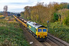 17th Nov 2019:  Bringing up the rear of 6Y16 from Stonehouse to Westbury is 66525. 66961 is doing the business on the other end.  Since Freightliner took over the Mendip stone traffic  DBC seem to have also given up much of their working on depertmental services