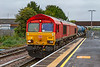 7th Oct 2019:  66018 is leading on the Didcot RHTT  arriving into Platform 3 at Westbury where it will reverse.  The morning  running  of 3J42  returns to Didcot  via the nine to Chippenham and Swindon.  This time it will return via the Berks & Hants. so the both lines are cleared