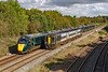 15th Oct 2019:  The 12.50 from Waterloo to Yeovil Pen Mill is 159013 being passed by 802013 & 802011 'Capt Robert Falcon Scott' with  1A87 the 12.55 Plymouth to Paddington at Fairwood Junction