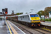 14th Oct 2019:  Arriving in Paltform 1 at Westbury is DVT 82146 on the front od 1Z05 from Toton to Westbury.  67015 is at the rear.    The train is bringing senion DBC managers to a meeting with the many DBC drivers who are leaving and some who are transferring to Freightliner at the end of the month.  iso 3200 for this one !