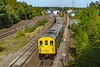 14th Sep 2019:  It is 3.30pm and the 'Ludgershall Legionaire' tour, with the yellow end of the Hastings unit leading 0n 1Z20 as it departs from Andover to `Salisbury after it's trip down the branch Ludgershall MOD.
