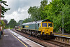 1st Jul 2020:  With the rain now stopped 66537 is captured at Warminster as it hauls 4O57 to Southampton Maritime from Wentloog..    Yet again when I go for this working the leading waggons are container less.  90 % of the train was loaded of course