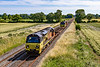 12th Jul 2020: Pictured at Cowleaze Ln in Edington is 6C20 from Old Oak Common to Westbury Down Yard.  Colas 70817 leads and 70807 is on the other end.