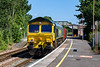 22nd Jun 2020:    66509 is at Warminster as it heads  7V12 the 15.38 empties from Woking to Whatley Quarry.  It was actually 135 minutes early