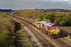 1st Mar 2020:  66056 TnT 66116 have just crod=ssed Fairwood Junction as they bring 6W97 back from Pilning to Westbury. Down Yard.