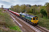 3rd Apr 2021:  With a decent rake of MXAs 'Lobsters' in tow 66562 is 1 minute earley at Hawkeridge.  6Y33 which left Westbury at 11.31 is going to Radyr near Cardiff.