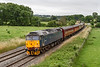"""12th Jul 2021:  47813 is heading 'The Royal Duchy"""" through Great Cheverell on a cloudy Sunday morning.  1Z31 started from Slough at 08.46 and is Going to Par in Cornwall.  However at Taunton Fairwater Yard it will be replaced by LNER Paciic 60163 'Tornado."""