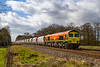 15th Mar 2021:  It is over three months since I wa s last here at Masters Crossing near Fairwood, just west of  WQestbury.  59203 is on the point od 6L21 that is ging to Dagenham Dock from Whatley Quarry in rhe Mendip Hills